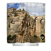 Puente Nuevo In Ronda Shower Curtain