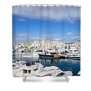 Puerto Banus Marina Shower Curtain