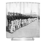 Puerto Ricans Serving In The American Colonial Army - C 1899 Shower Curtain