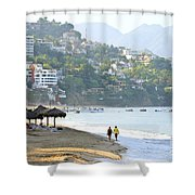 Puerto Vallarta Beach Shower Curtain