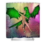 Puff The Magic Dragon Shower Curtain