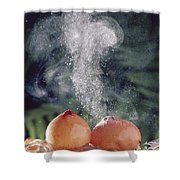 Puffballs Releasing Spores Shower Curtain