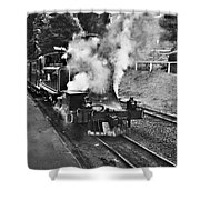 Puffing Billy Black And White Shower Curtain