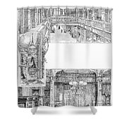 Pullman: Arcade, C1885 Shower Curtain