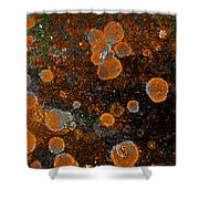 Pumpkin Abstract Square Shower Curtain