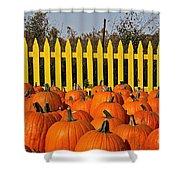 Pumpkin Corral Shower Curtain