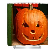 Pumpkin Man Shower Curtain