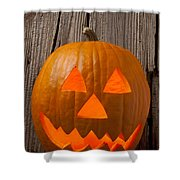 Pumpkin With Wicked Smile Shower Curtain