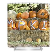 Pumpkins P U M P K I N S Shower Curtain