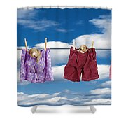 Puppies Hanging Out Shower Curtain