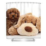 Puppy Shower Curtain