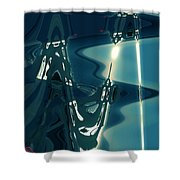 Pure Life Light By Chapel On Santorini Island Greece Shower Curtain
