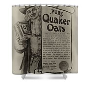 Pure Quaker Oates Shower Curtain by Bill Cannon