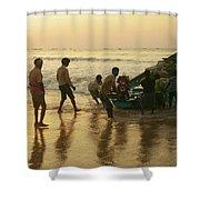 Puri Fishermen Shower Curtain