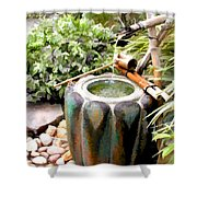 Purification Basin For Tea Ceremony Shower Curtain