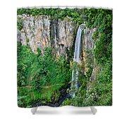 Purlingbrook Falls In Australia Shower Curtain