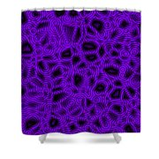 Purple And Blue Abstract Shower Curtain