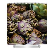 Purple Artichokes At The Market Shower Curtain