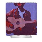 Purple Blues Shower Curtain