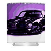 Purple Firebird Shower Curtain