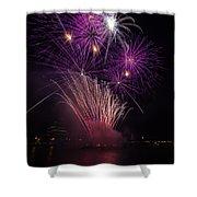 Purple Fireworks Shower Curtain