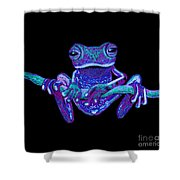Purple Ghost Frog Shower Curtain