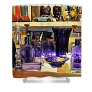 Purple Glass Collection Shower Curtain