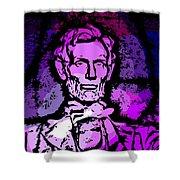 Purple Lincoln Shower Curtain