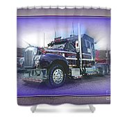 Purple Mack Abstract Shower Curtain