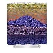 Purple Mountain Majesty Sunset Shower Curtain