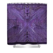 Purple Poeticum Shower Curtain