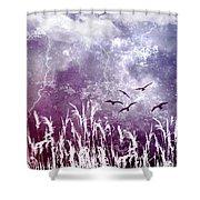 Purple Skies Shower Curtain
