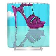Purple Stilt Stilettos Reflections Shower Curtain
