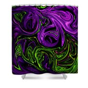 Purple Transformation Shower Curtain