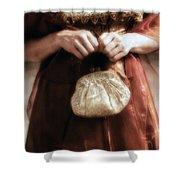 Purse Shower Curtain by Joana Kruse
