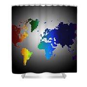 Puzzle World Treasure Map Shower Curtain