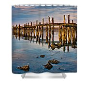 Pylons In Humboldt Bay Shower Curtain
