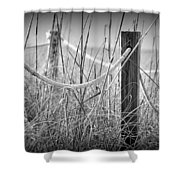 Pylons On The Beach Shower Curtain