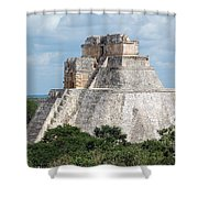 Pyramid Of The Magician At Uxmal Mexico Shower Curtain