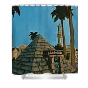 Pyramid Tomb In Cemetary Shower Curtain
