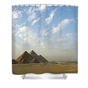 Pyramids,giza,egypt Shower Curtain