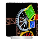 Pythagorean Machine Landscape 2 Shower Curtain