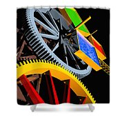 Pythagorean Machine Portrait 4 Shower Curtain