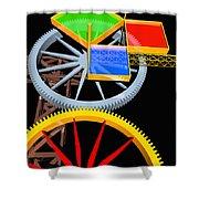 Pythagorean Machine Portrait 7 Shower Curtain