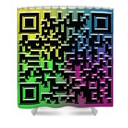 Qr Art Shower Curtain