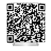 Qr Code Artists Website Shower Curtain
