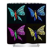 Quad Butterflies Shower Curtain