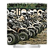 Quad Racers Shower Curtain