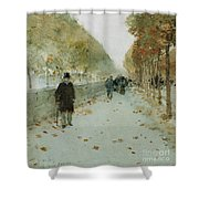Quai Du Louvre Shower Curtain by Childe Hassam