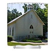 Quaker Church Shower Curtain by Scott Hervieux